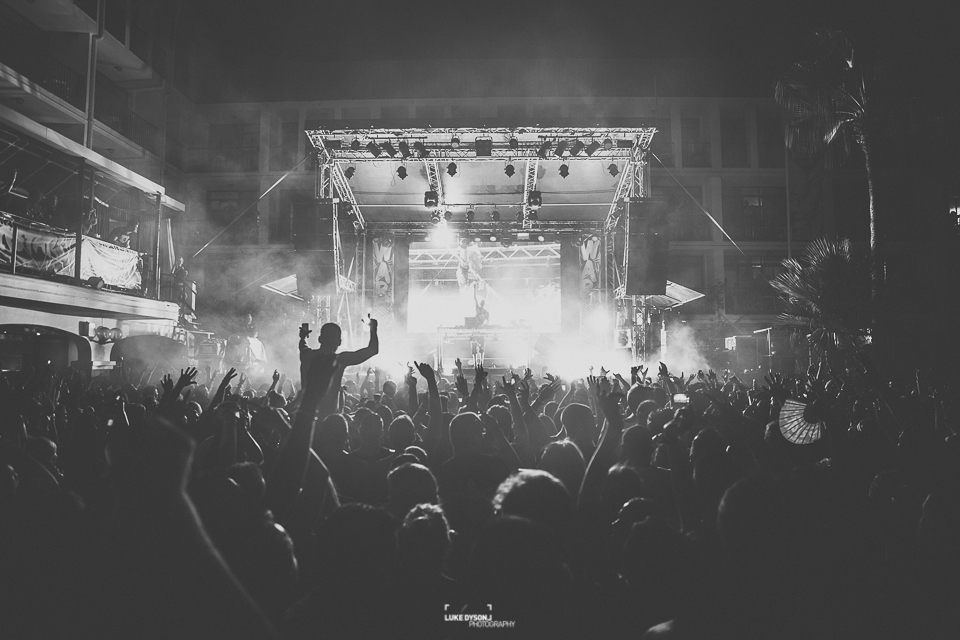 WAR! - Ibiza Rocks - Fatboy Slim - Maribou State - Ten Story - 29th August 2014 - Luke Dyson Photography - Blog